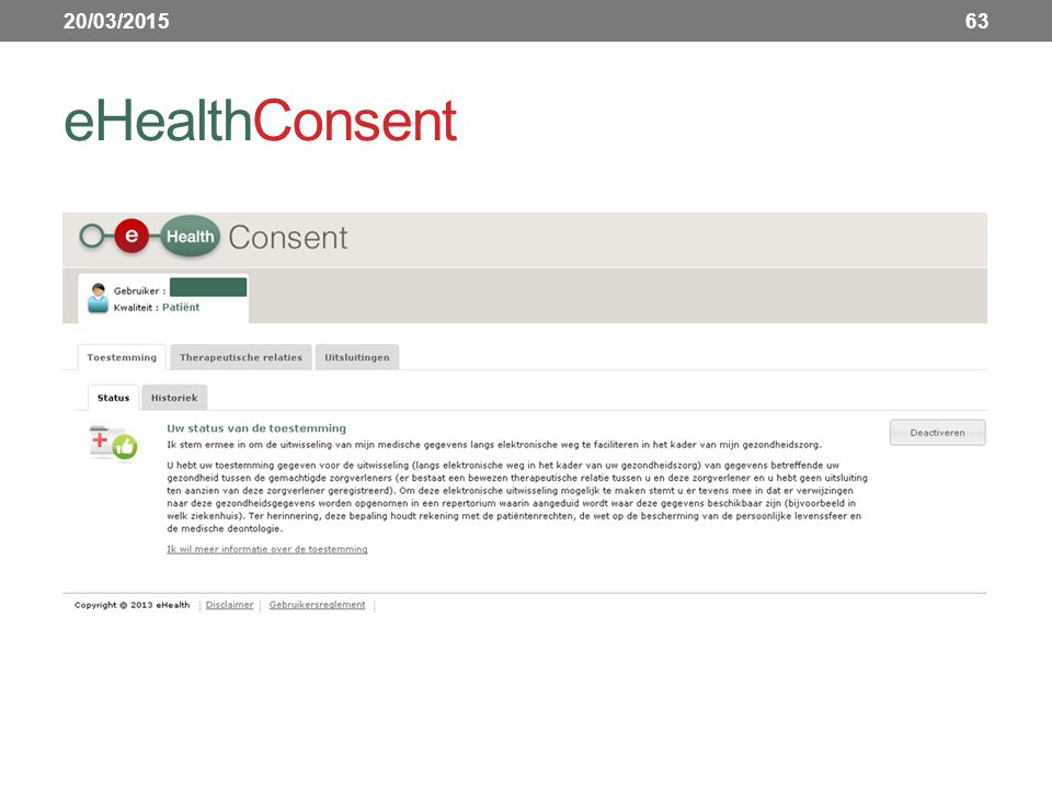 20/03/2015 eHealthConsent