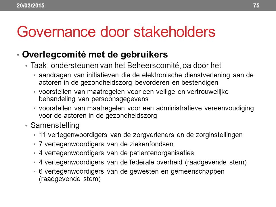 Governance door stakeholders