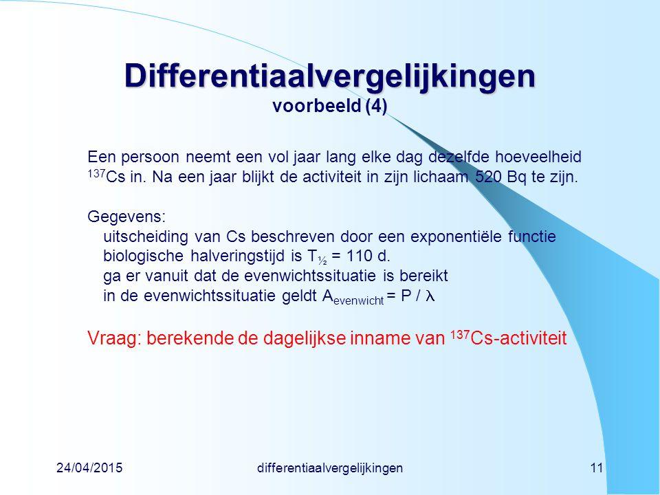 Differentiaalvergelijkingen voorbeeld (4)