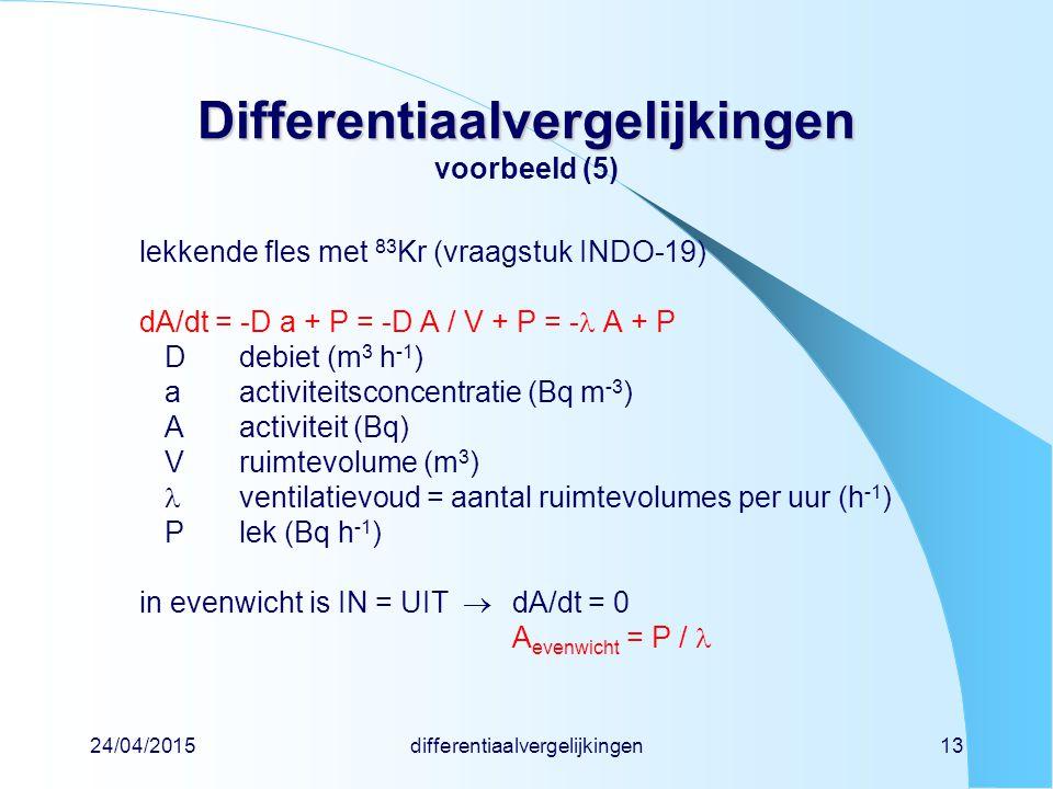 Differentiaalvergelijkingen voorbeeld (5)