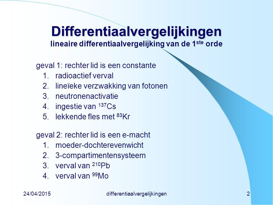 differentiaalvergelijkingen