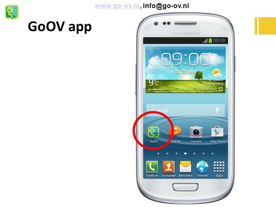 GoOV app www.go-ov.nl, info@go-ov.nl 11