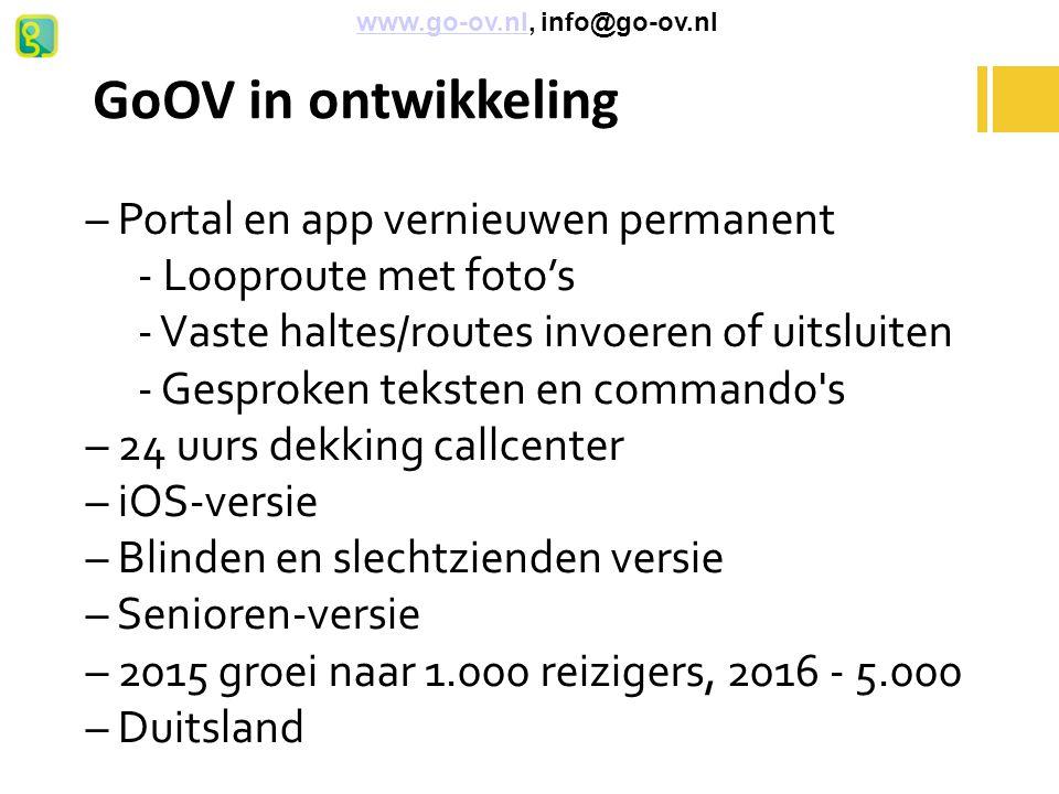 GoOV in ontwikkeling – Portal en app vernieuwen permanent
