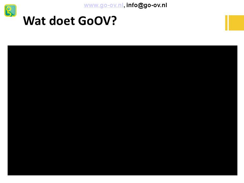 Wat doet GoOV www.go-ov.nl, info@go-ov.nl Wat doet GoOV voor Jeremy