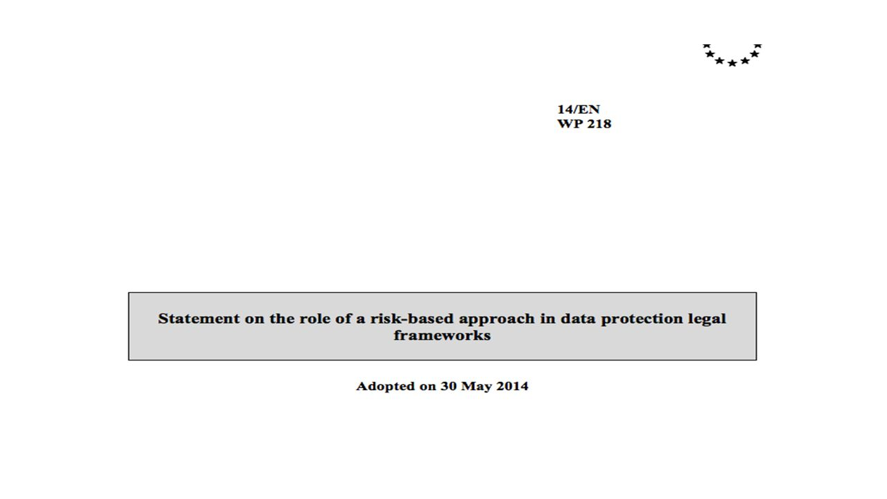 excessive reliance on a risk-based approach could undermine fundamental rights. A risk analysis is useful as a guide to allocate resources, but should not affect the underlying rights of the data subject.