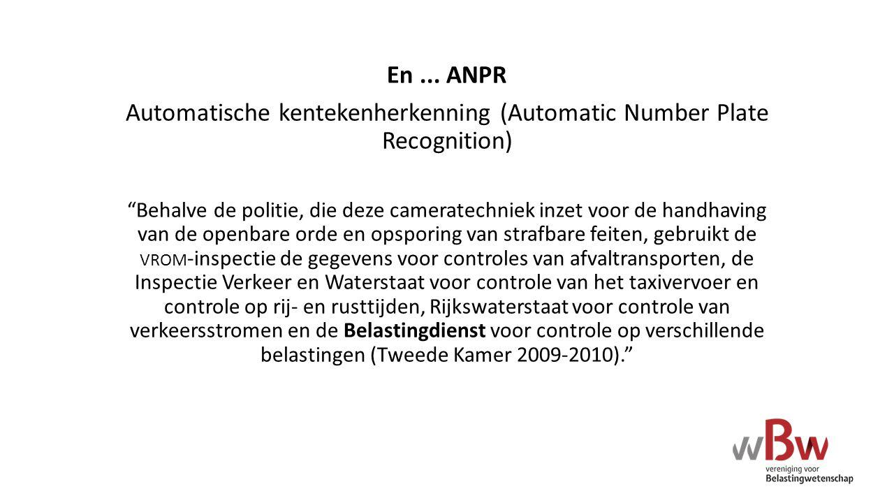 Automatische kentekenherkenning (Automatic Number Plate Recognition)
