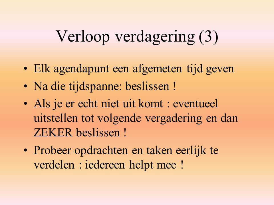 Verloop verdagering (3)