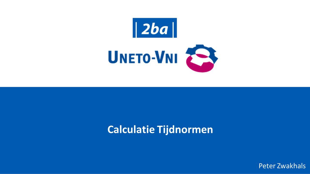 Calculatie Tijdnormen