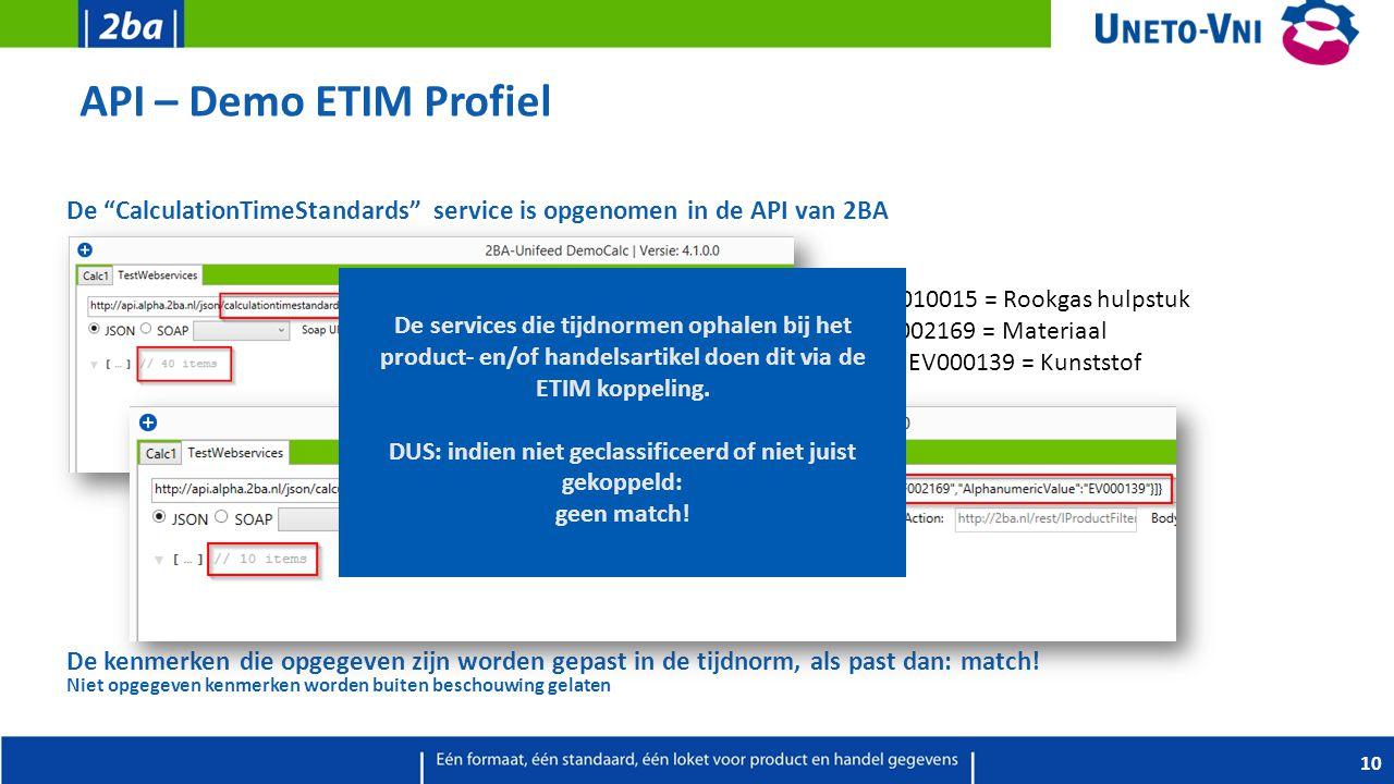 API – Demo ETIM Profiel