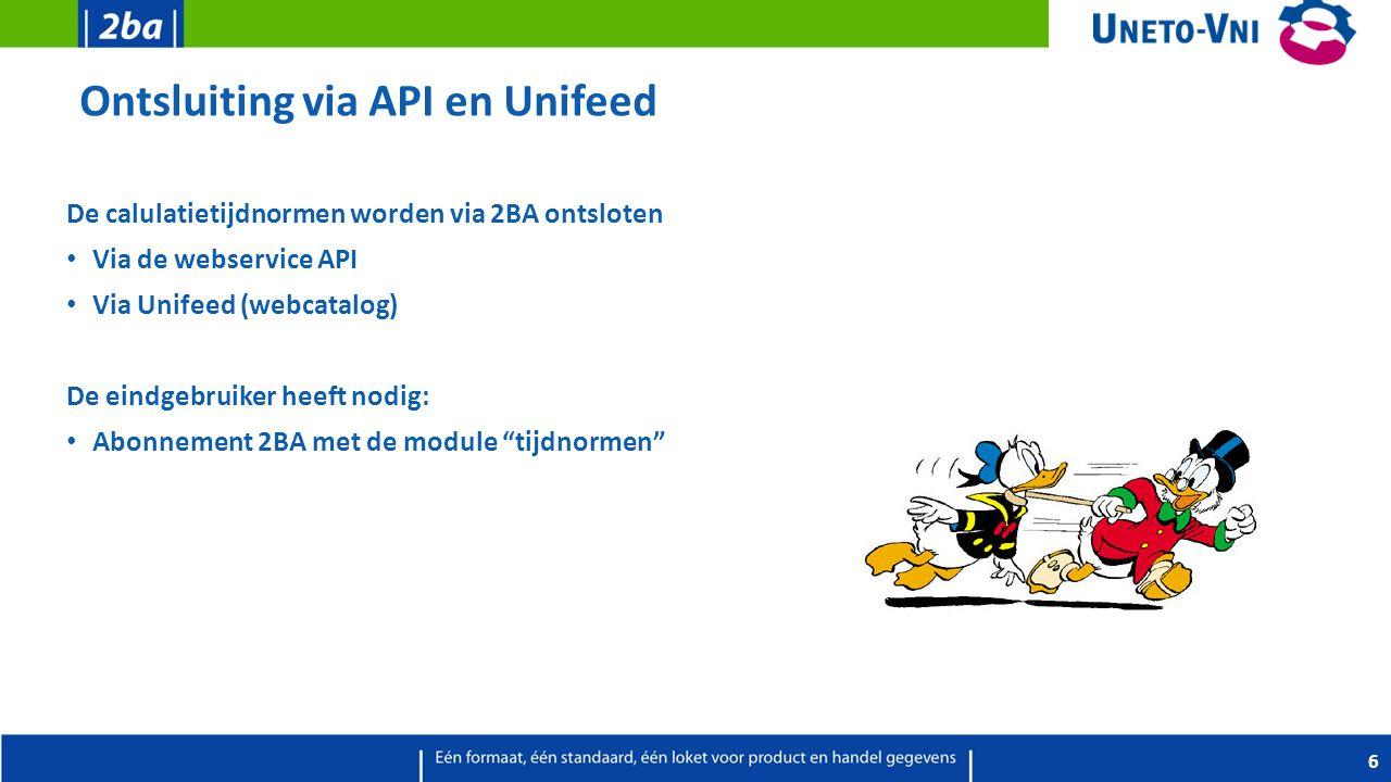 Ontsluiting via API en Unifeed