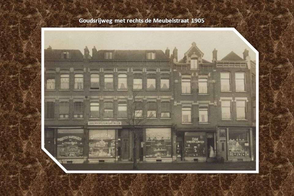 Goudsrijweg met rechts de Meubelstraat 1905