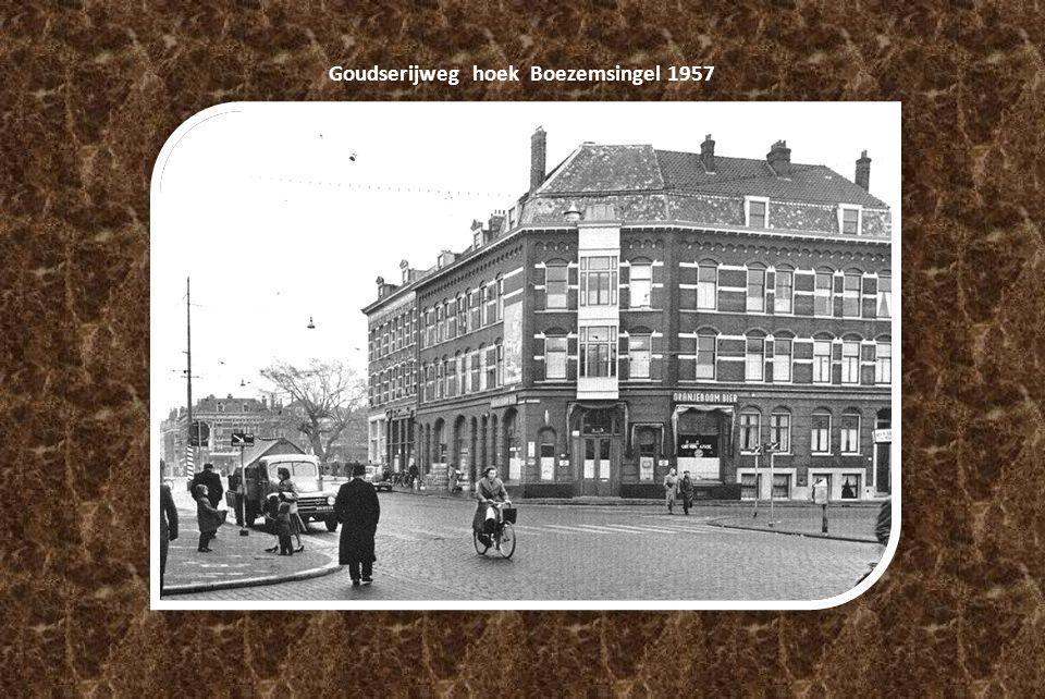 Goudserijweg hoek Boezemsingel 1957