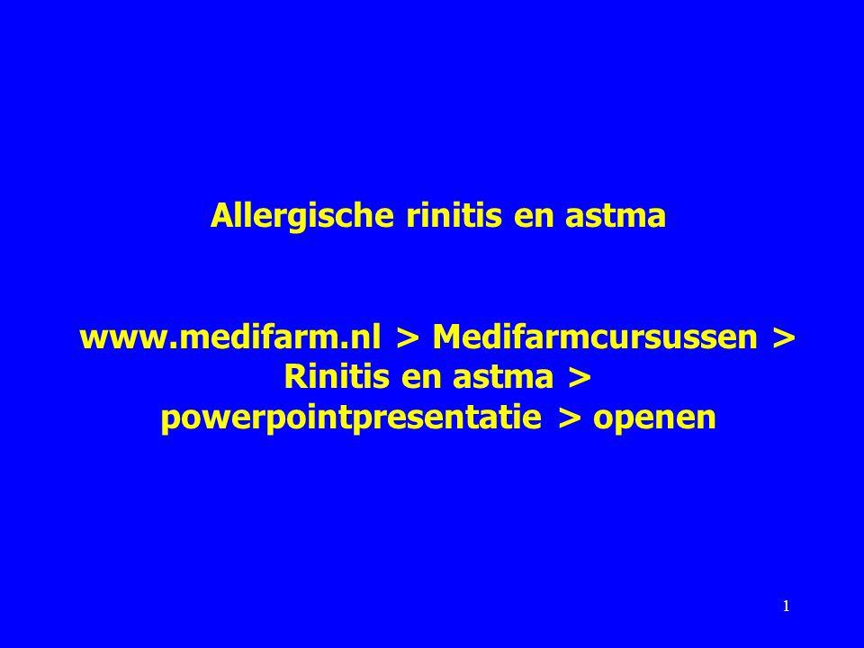 Allergische rinitis en astma www. medifarm