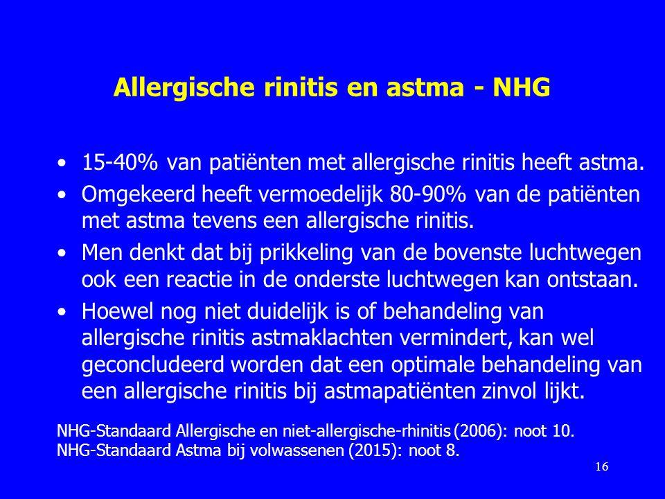 Allergische rinitis en astma - NHG