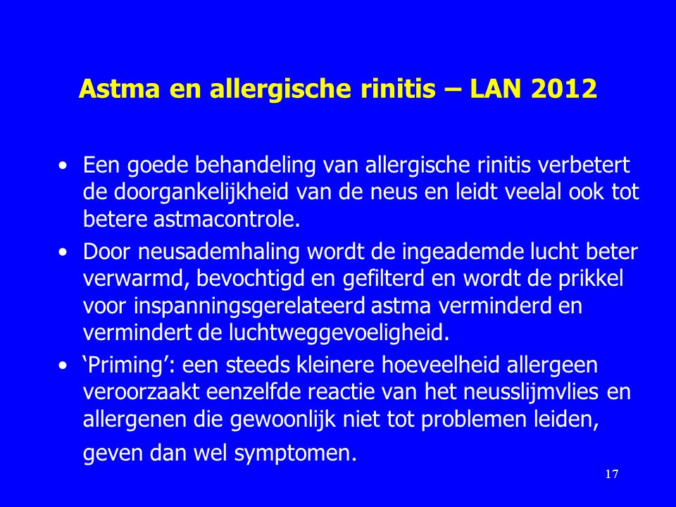 Astma en allergische rinitis – LAN 2012