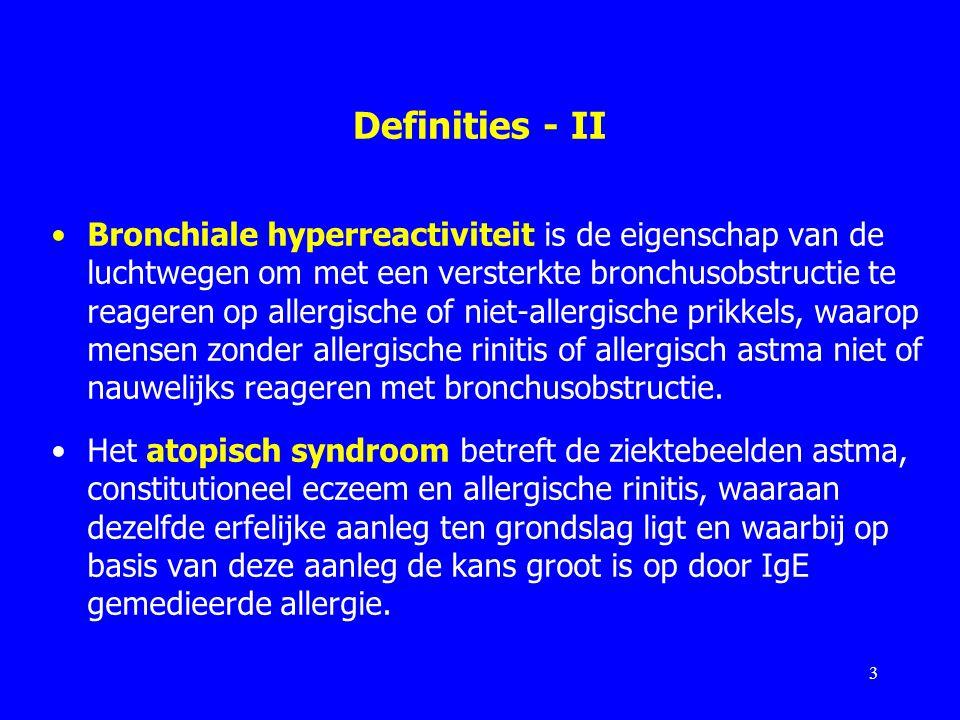 Definities - II