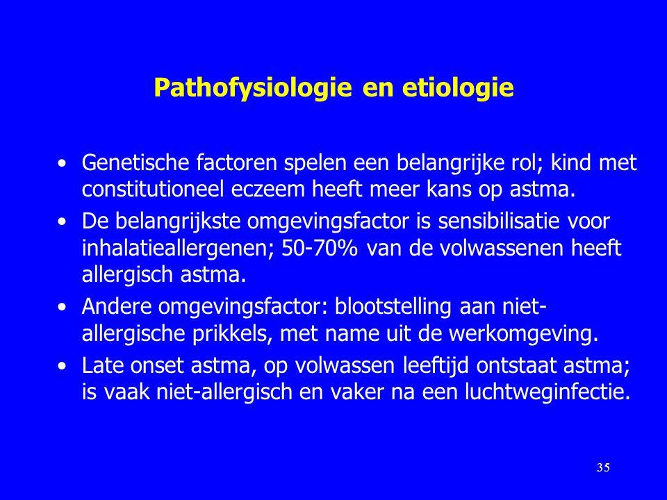 Pathofysiologie en etiologie