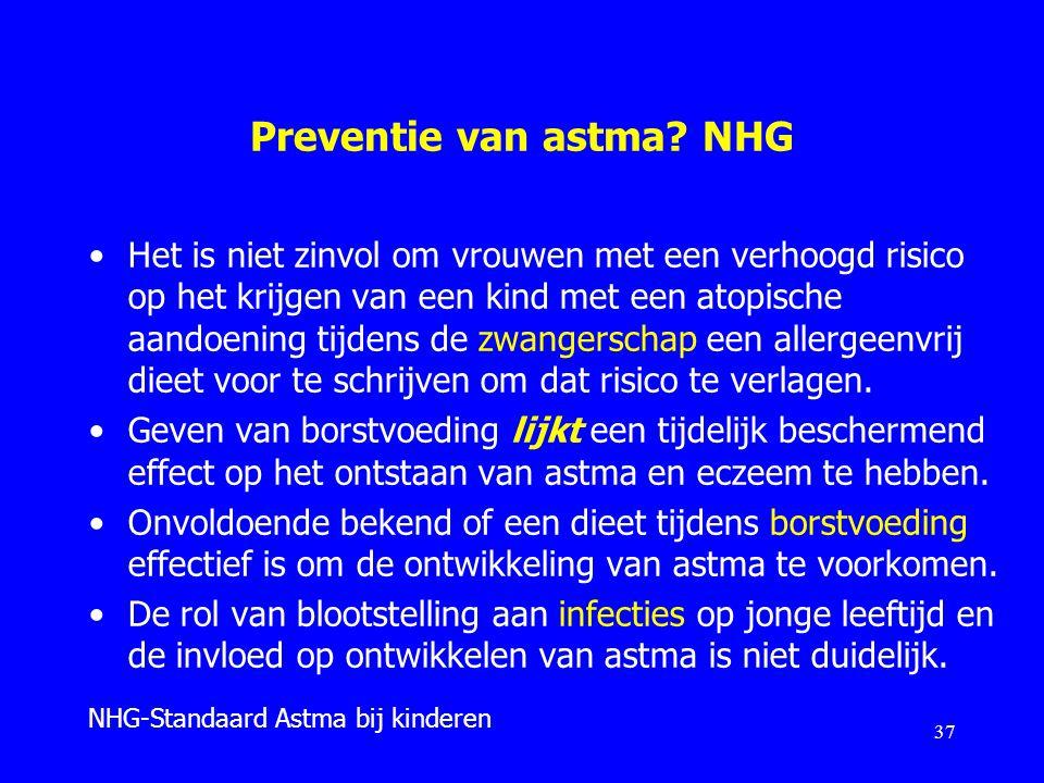 Preventie van astma NHG