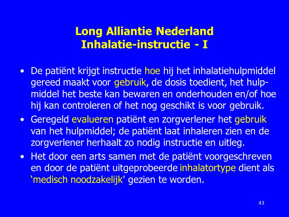 Long Alliantie Nederland Inhalatie-instructie - I
