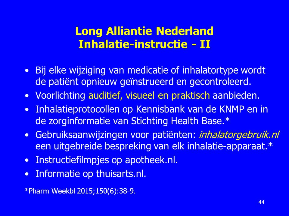 Long Alliantie Nederland Inhalatie-instructie - II