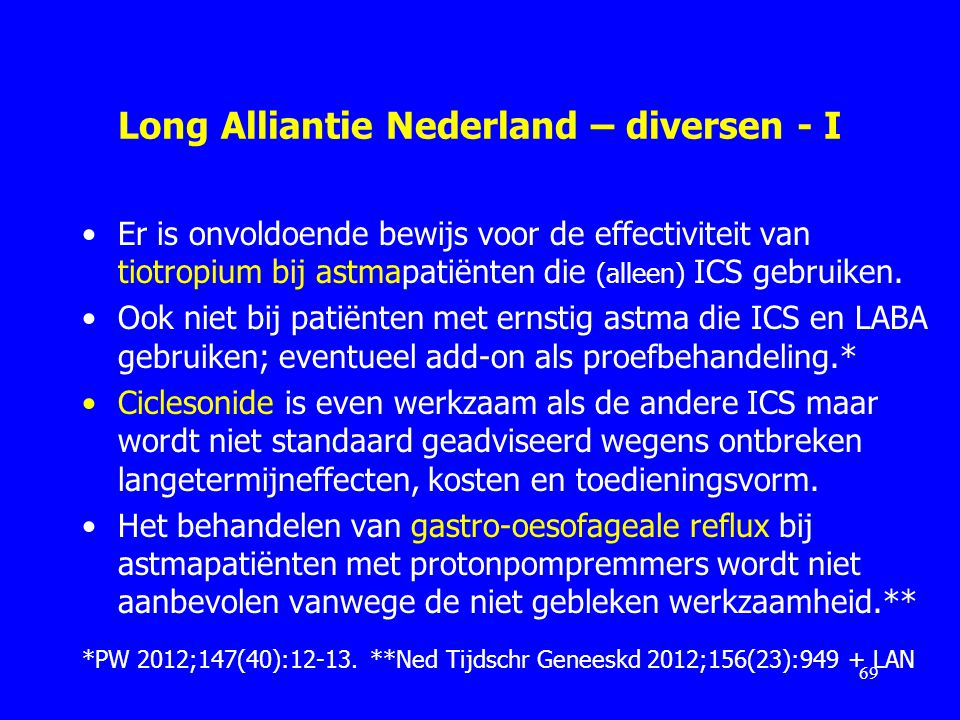 Long Alliantie Nederland – diversen - I