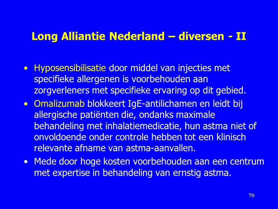 Long Alliantie Nederland – diversen - II