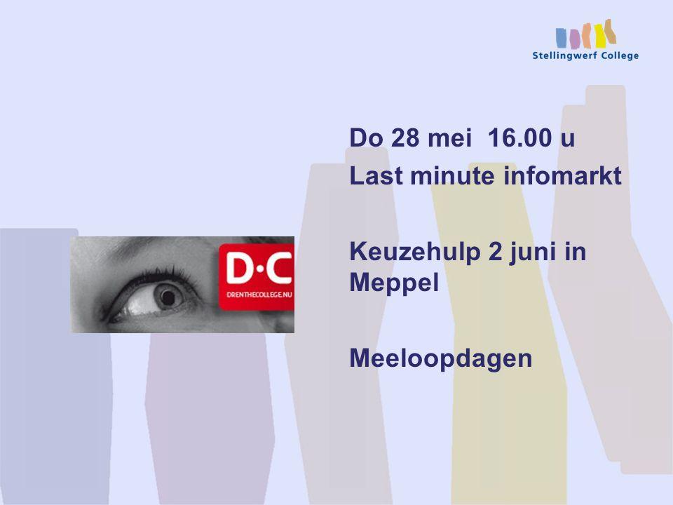 Do 28 mei 16.00 u Last minute infomarkt Keuzehulp 2 juni in Meppel Meeloopdagen