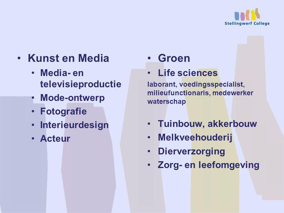 Kunst en Media Groen Media- en televisieproductie Mode-ontwerp