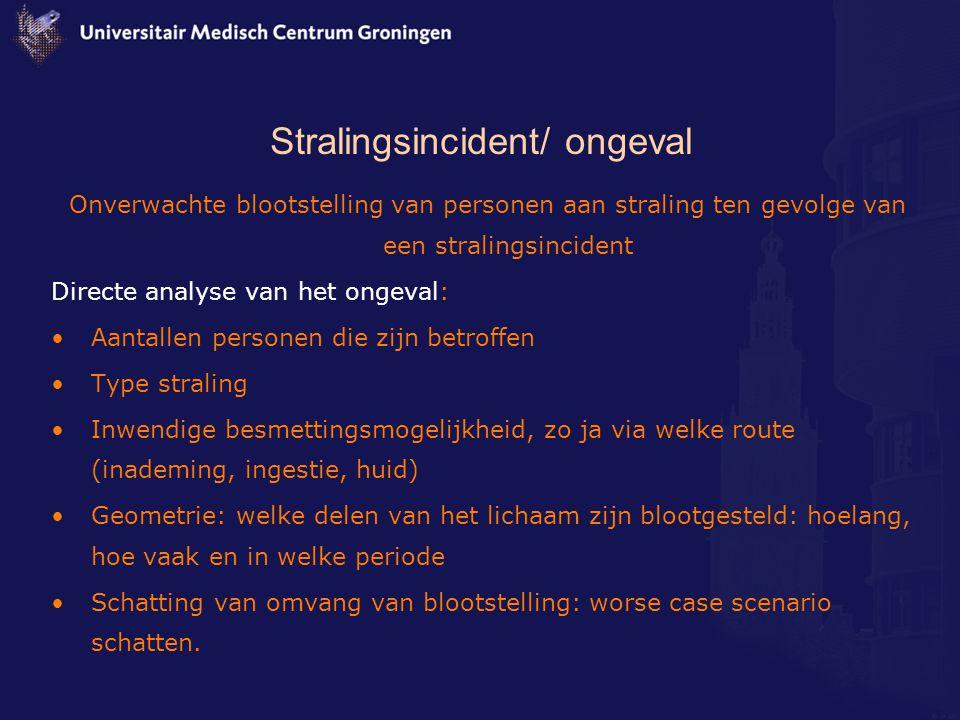 Stralingsincident/ ongeval