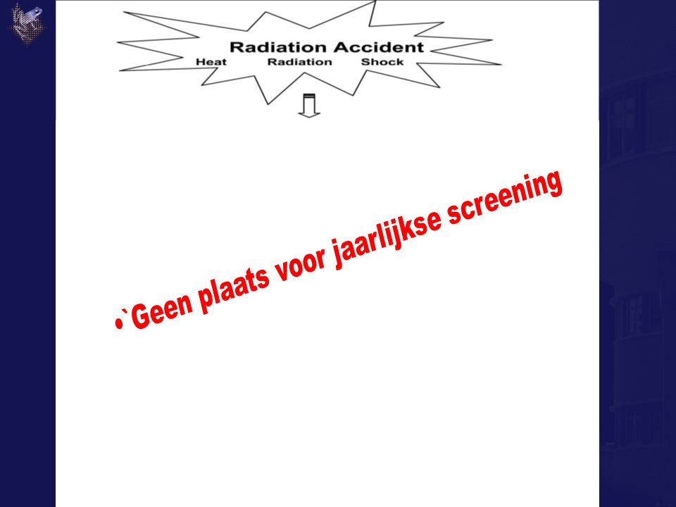 `Geen plaats voor jaarlijkse screening