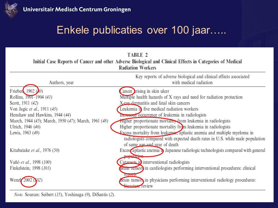 Enkele publicaties over 100 jaar…..