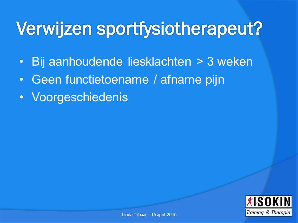 Verwijzen sportfysiotherapeut