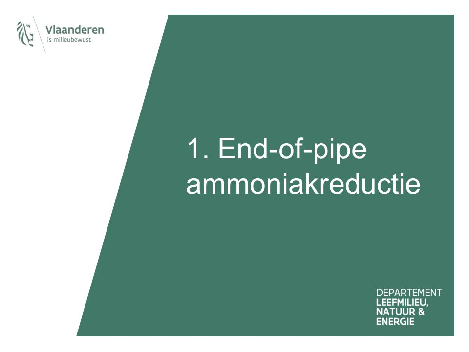 1. End-of-pipe ammoniakreductie