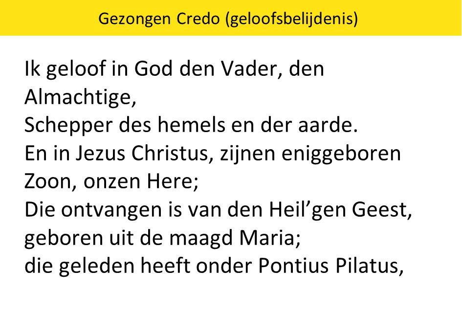 Gezongen Credo (geloofsbelijdenis)