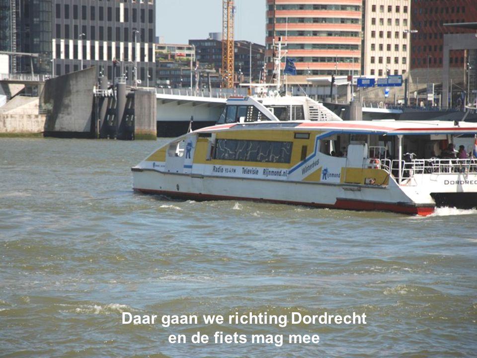 Daar gaan we richting Dordrecht