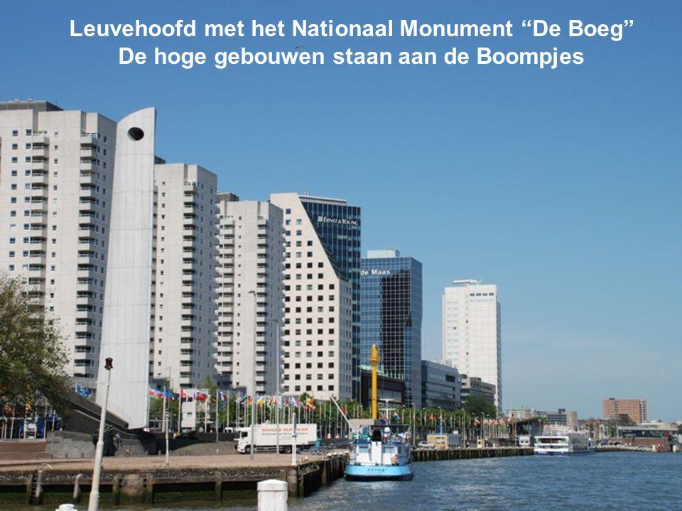 Leuvehoofd met het Nationaal Monument De Boeg