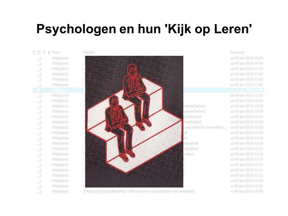 Psychologen en hun Kijk op Leren