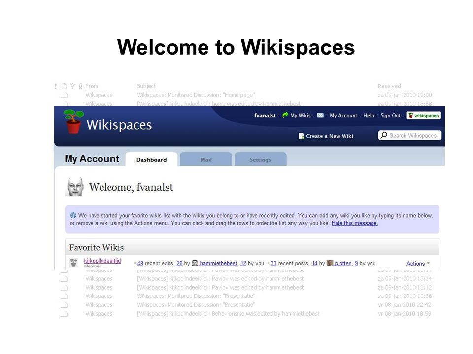 Welcome to Wikispaces