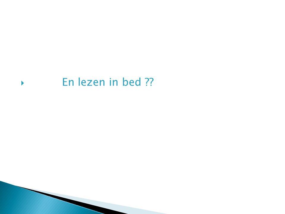 En lezen in bed
