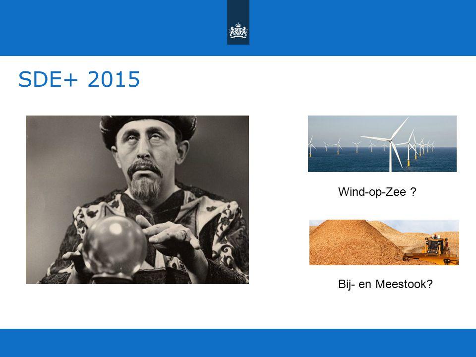SDE+ 2015 Wind-op-Zee Bij- en Meestook