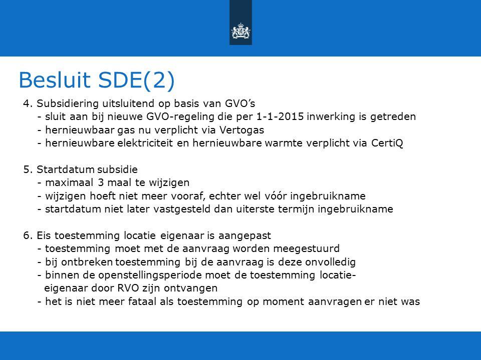 Besluit SDE(2)