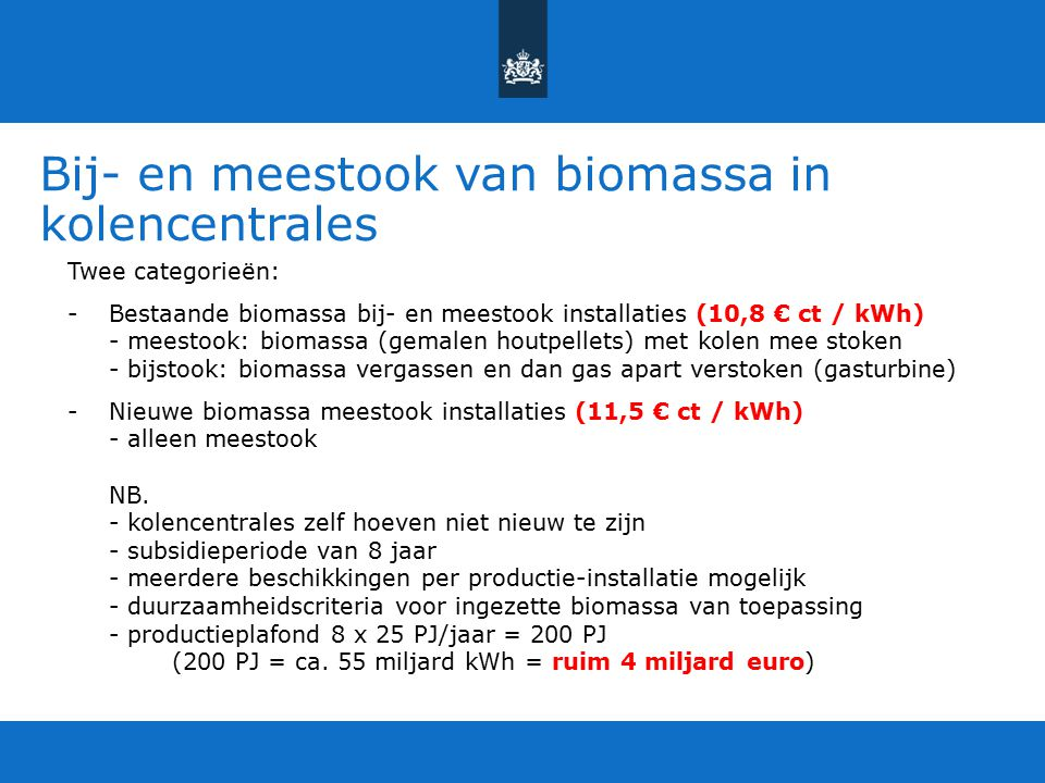 Bij- en meestook van biomassa in kolencentrales