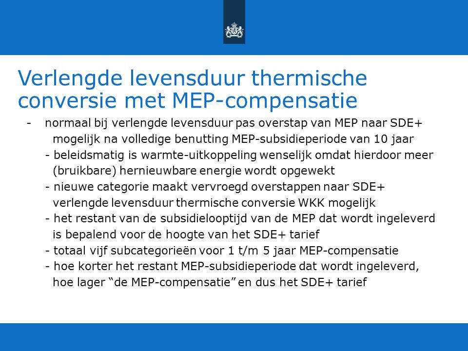 Verlengde levensduur thermische conversie met MEP-compensatie
