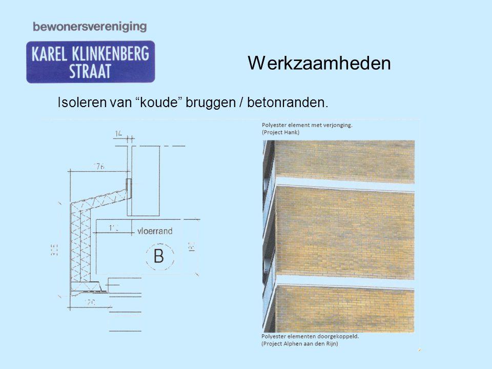 Werkzaamheden Isoleren van koude bruggen / betonranden.
