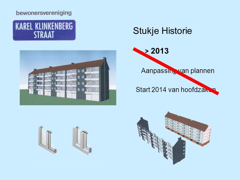 Stukje Historie > 2013 Aanpassing van plannen