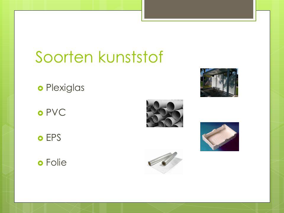 Soorten kunststof Plexiglas PVC EPS Folie
