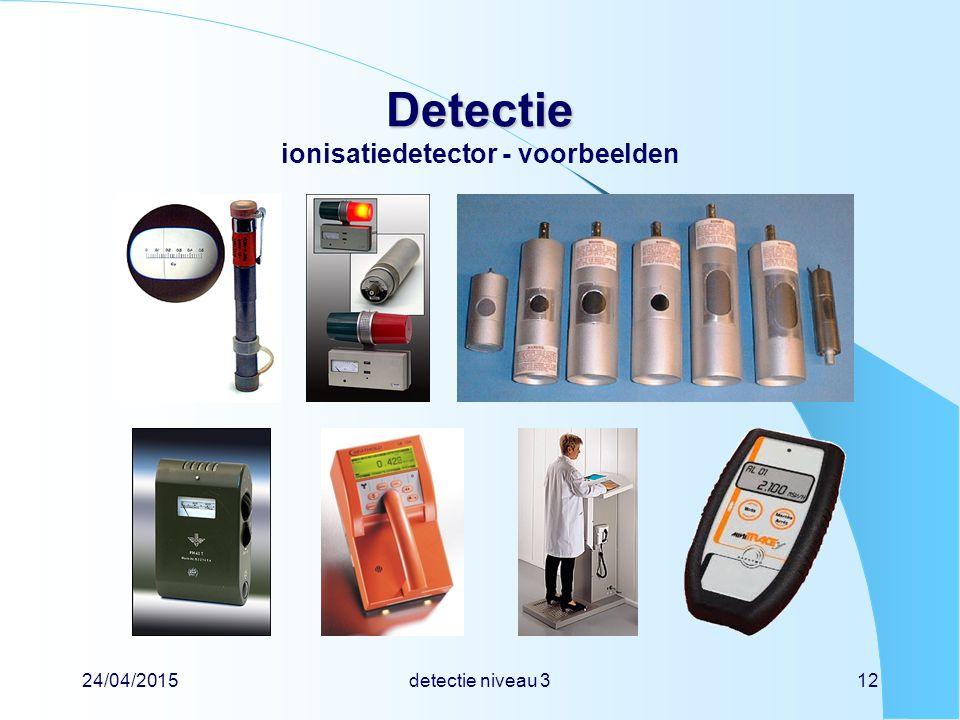 Detectie ionisatiedetector - voorbeelden