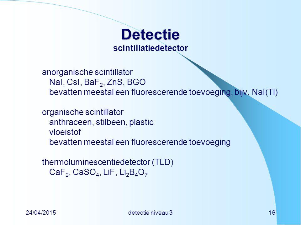 Detectie scintillatiedetector