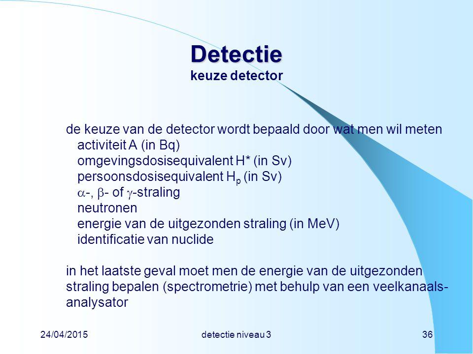 Detectie keuze detector
