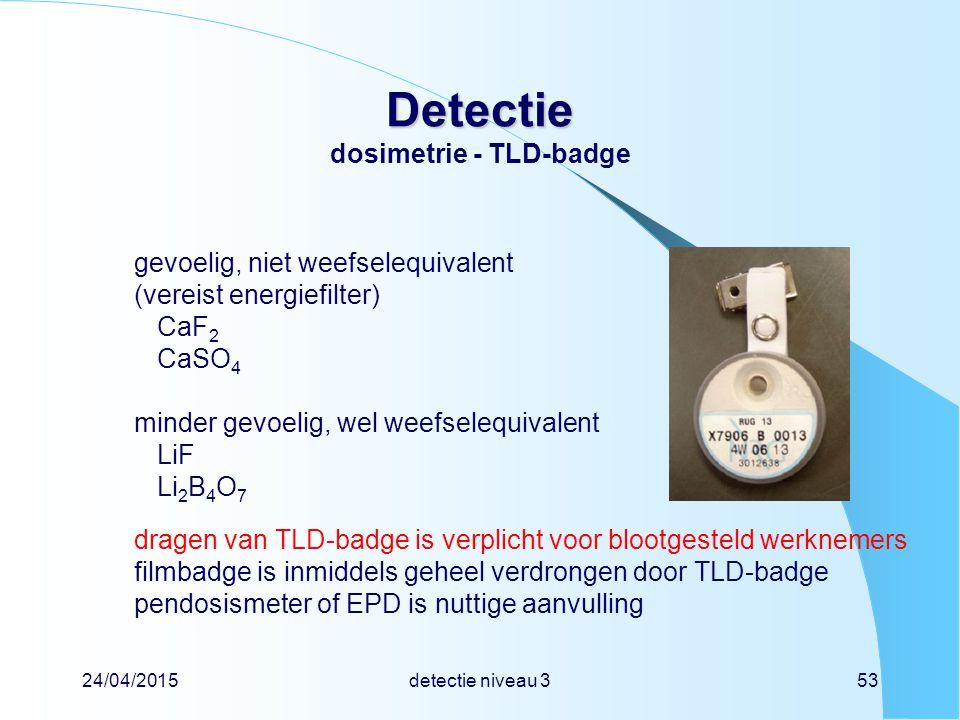 Detectie dosimetrie - TLD-badge